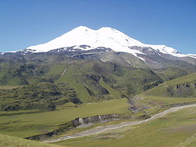 North Face of Mt Elbrus