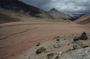 Glacial beds near Plaza Argentina