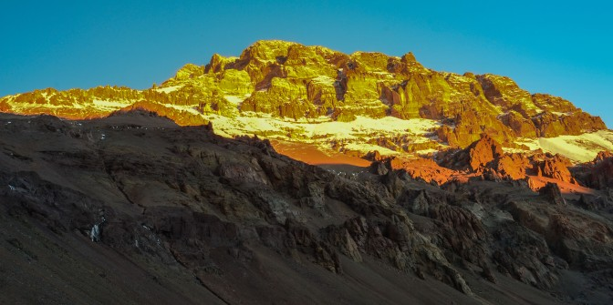 Awesome landscape of the Mt Aconcagua area