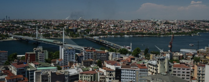 Panoramic views of Istanbul from the Galata Tower