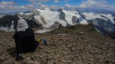 Resting on Mt Aconcagua