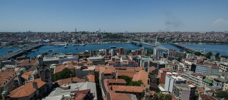 Looking south to the Fatih area of Istanbul from the Galato tower.