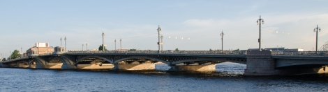 Bridge over the river Neva