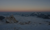 Sunrise on Mt Elbrus